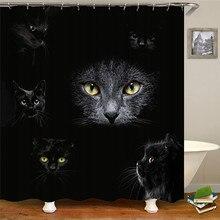 цена на Cartoon animal eyes shower curtain bathroom decorative curtain interesting image waterproof polyester fabric bathroom curtain