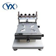 Linha de produção do estêncil smt da impressora da pasta da solda do estêncil do pwb da impressora do estêncil de yx3040