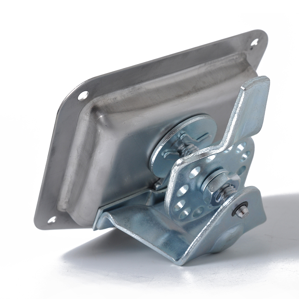 1x Folding T Handle Lock Flush Mount Tool Box Camper Trailer Stainless Steel