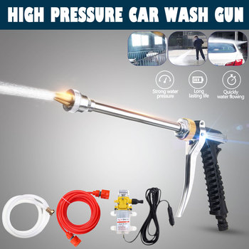 1Set 100W 12V Car Washer Guns Pump High Pressure Cleaner Electric Cleaning Auto Device Car Care Portable Washing Machine image