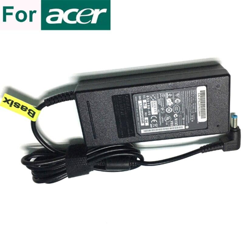 Basix 19V 4.74A 90W подлинный блок питания адаптер переменного тока зарядное устройство для ноутбука acer Aspire One A110 AOA110 D150 D250 KAV60 зарядное устройство