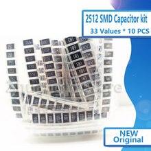 Комплект резисторов 2512 SMD, набор в ассортименте, 1 Ом-1М ом, 5%, 33 значения, 10 шт. = 330 шт., Набор для творчества