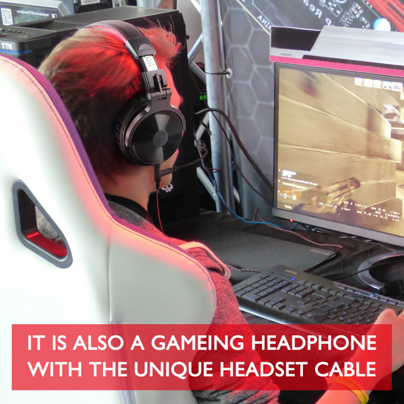 lowest price Oneodio 80h Wireless Bluetooth 5 0 Headset Wired Gaming Headphones With Microphone For PC PS4 Call Center Office Skype Headphone