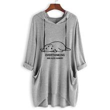 Hoodies Women 2019 Autumn Fashion Pocket Loose Print Irregularity Hooded Sweatshirt Plus Size 5XL Kawaii Streetwear Clothes