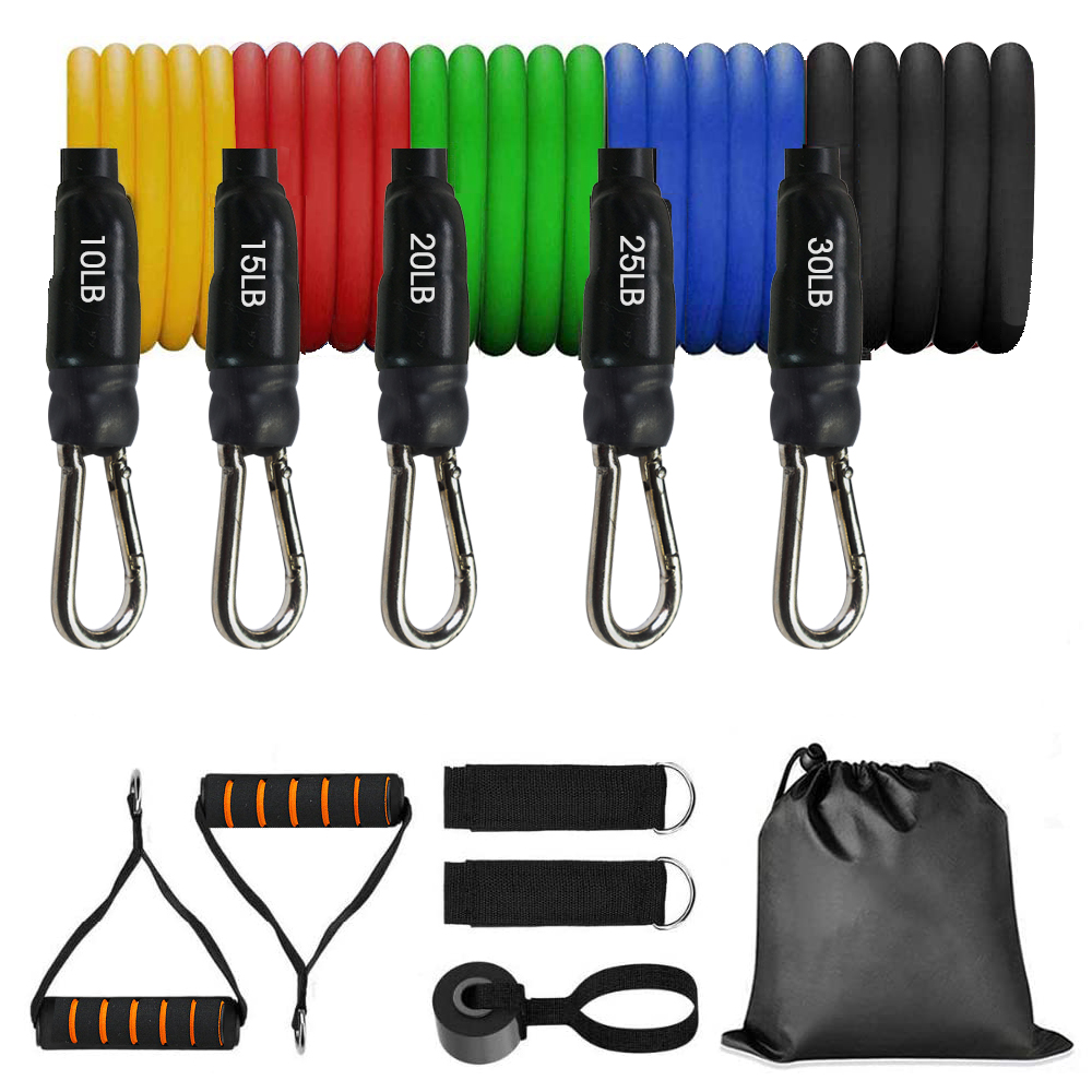 11pcs Fitness Resistance Bands 17pcs Exercise Workout Bands Elastic 14pcs Pull String Sport Assist Trainer Loop For Gym Fitness
