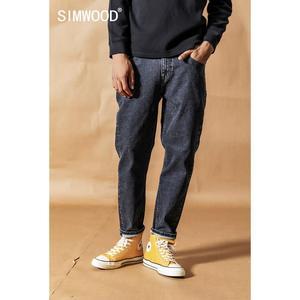 Image 2 - SIMWOOD 2020 bahar kış yeni kot erkek moda klasik yüksek kaliteli kot pantolon artı boyutu denim pantolon 190408
