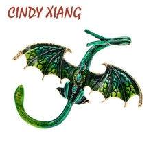 CINDY XIANG – broche Dragon en émail, grande broche unisexe pour femmes et hommes, Animal, 5 couleurs disponibles, cadeau, nouveauté