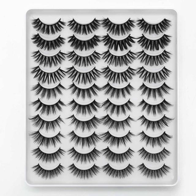 8/20 Pairs 3D Mink Lashes Natural False Eyelashes Dramatic Volume Fake Lashes Makeup Eyelash Extension Silk Handmade Eyelashes 3