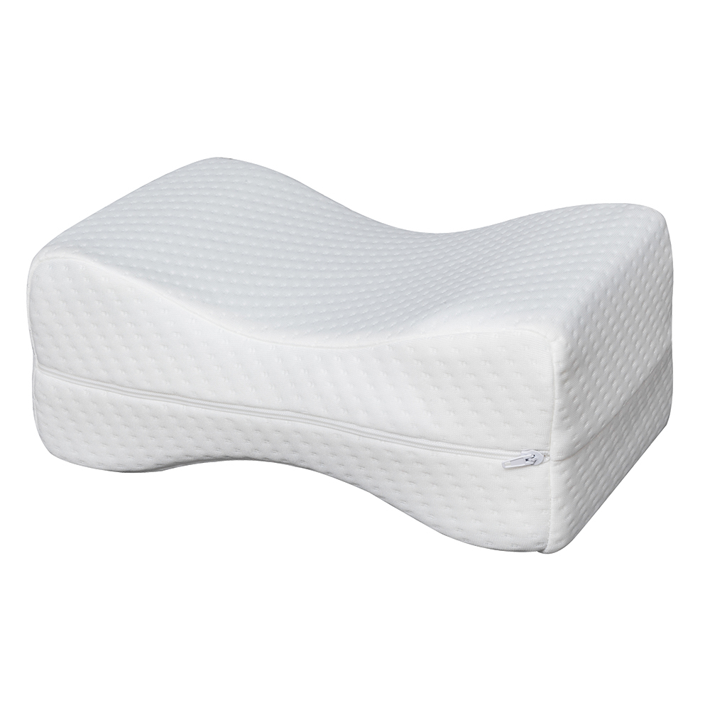 Memory Foam Wedge Sleeping Knee Pillow for Side Sleepers Back Pain Sciatica Relief Pregnancy Maternity Pillows Bed Leg Cushion image