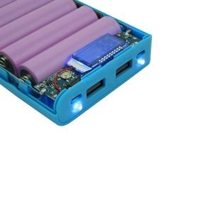 Image 5 - デュアルusb 8*18650バッテリーホルダー電源銀行電池ボックスモバイル電話充電器diyシェルケースと量表示xiaomi