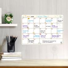 جدول زمني قابل للمسح المغناطيسي السبورة علامات ممحاة مغناطيس الثلاجة الثلاجة للقيام قائمة شهرية أسبوعية اليومية مخطط ملصق
