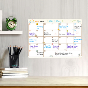 Image 1 - Magnetic Erasable Schedule Whiteboard Markers Eraser Magnets Fridge Refrigerator To Do List Monthly Weekly Daily Planner Sticker