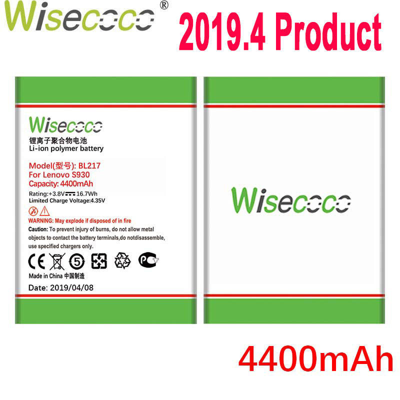 WISECOCO 4400mAh BL217 <font><b>Battery</b></font> For <font><b>Lenovo</b></font> <font><b>S930</b></font> S939 S938T Mobile Phone In Stock Latest Production <font><b>Battery</b></font>+Tracking Number image