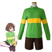 Anime Undertale Cosplay Costume Hauts + Short Fouiller Sans Papyrus Chara Ensemble Polyester