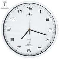 VidaXL 31 Cm Radio Controlled Wall Clock With Quartz Movement Home Decor Digital Clock For Office Christmas Gift Circular Clock