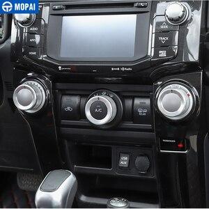 Image 3 - MOPAI Interni Auto Aria Condizionata Interruttore di Pulsante Della Decorazione Anello di Copertura per Toyota 4Runner 2010 2020 Accessori