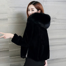 Зимние пальто женские шубы из искусственного меха с капюшоном черный искусственный мех пальто puls Размер Меховая куртка для женщин