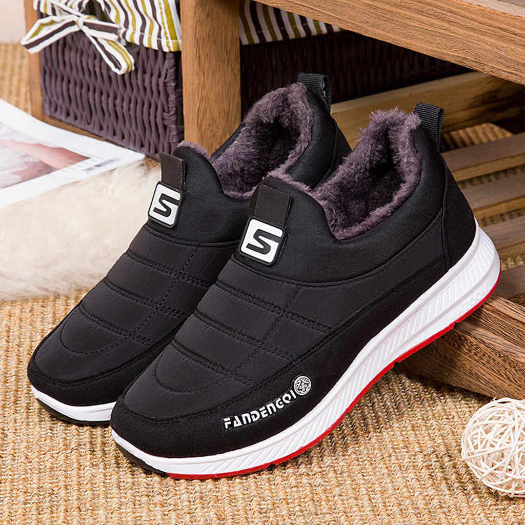 Snowboots mannen Winter Warm Bont Dames Zip Platform Suede Wedge Fashion Enkellaars Unisex Comfort Casual Schoenen Plus size