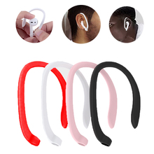 1 paire oreillettes de protection support sécurisé ajustement crochets pour Airpods Apple sans fil écouteurs accessoires Silicone sport Anti perte