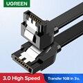 Кабель Ugreen SATA 3,0 для жесткого диска SSD HDD Sata 3 прямой прямоугольный кабель для Asus MSI Gigabyte кабель для материнской платы Sata