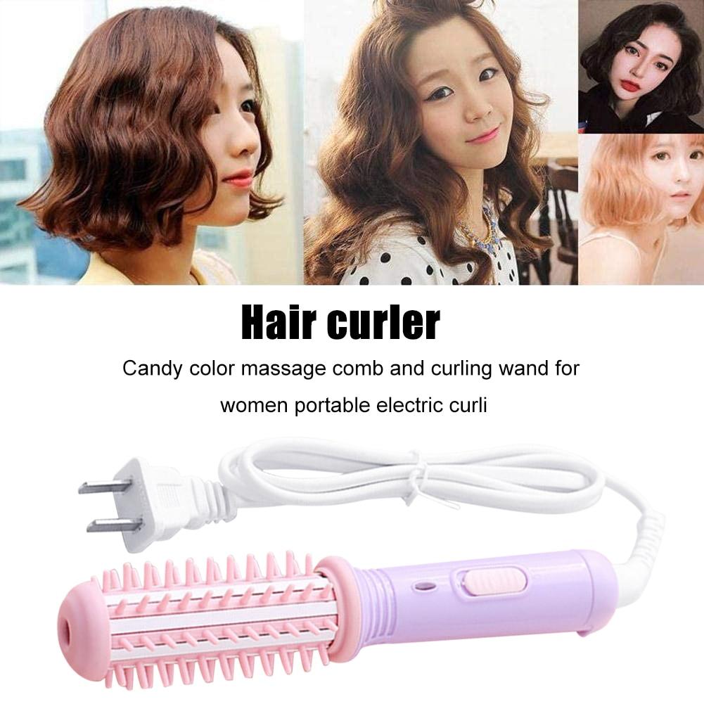 Pente elétrico escova de cabelo temperatura constante