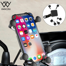 XMXCZKJ X-Grip Mount Motorcycle Holder Motorcycle Rear Mirror Mount For Gopro Smartphone Moto Holder For iPhone XR 3.5-6.3 Inch abs pvc motorcycle mount holder water resistant bag for motorola moto x black