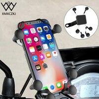 XMXCZKJ X-Grip Mount Suporte da motocicleta Suporte do espelho traseiro da motocicleta para Gopro Smartphone Suporte de moto para iPhone XR 3.5-6.3 polegadas