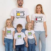Семейный образ рубашка мама и я одежда супер папа дети батарея