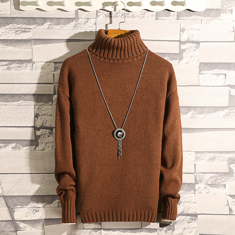 Winter Thick Warm Cashmere Sweater Men Turtleneck Mens Sweaters Slim Fit Pullover Men Classic Wool Knitwear Pull Homme 7 Color