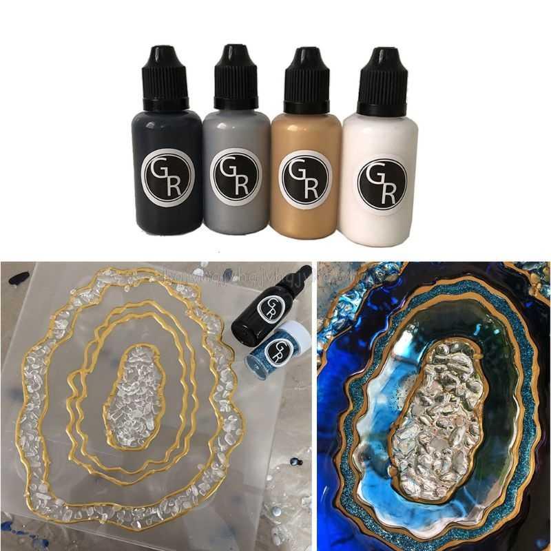 30G Resin Seni Tinta Difusi Pigmen Gambar Garis Besar Paste Resin Perhiasan Membuat S05 19 Dropship