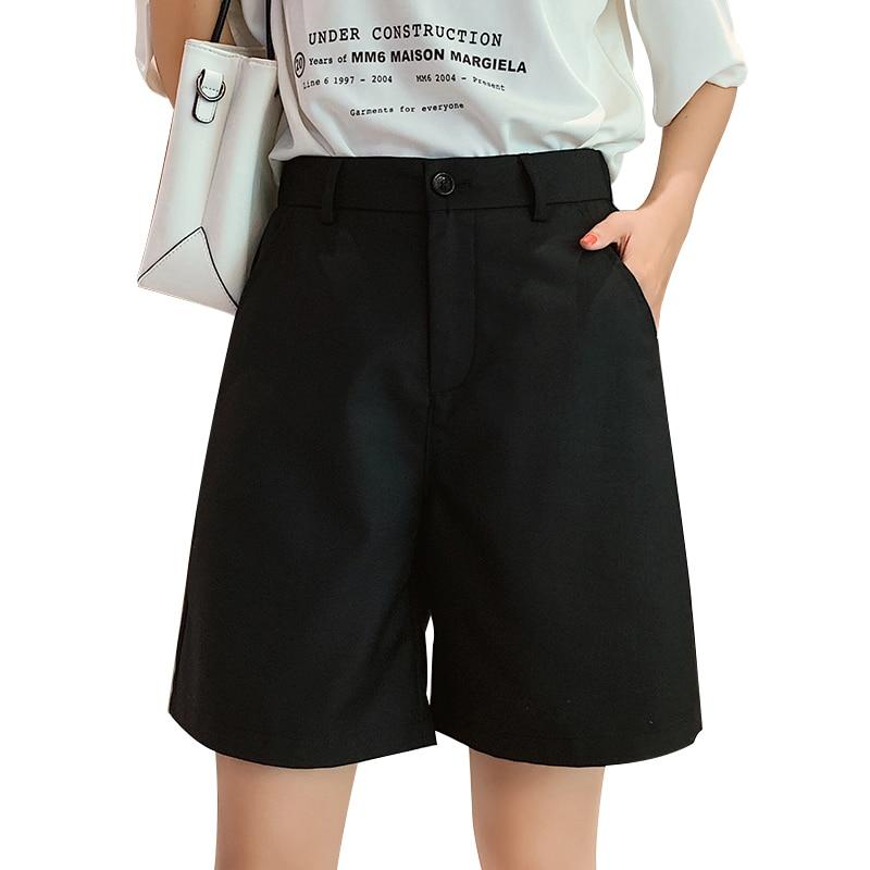 YYear Women Stretchy Beach High Waist Belted Buttons Fashion Shorts