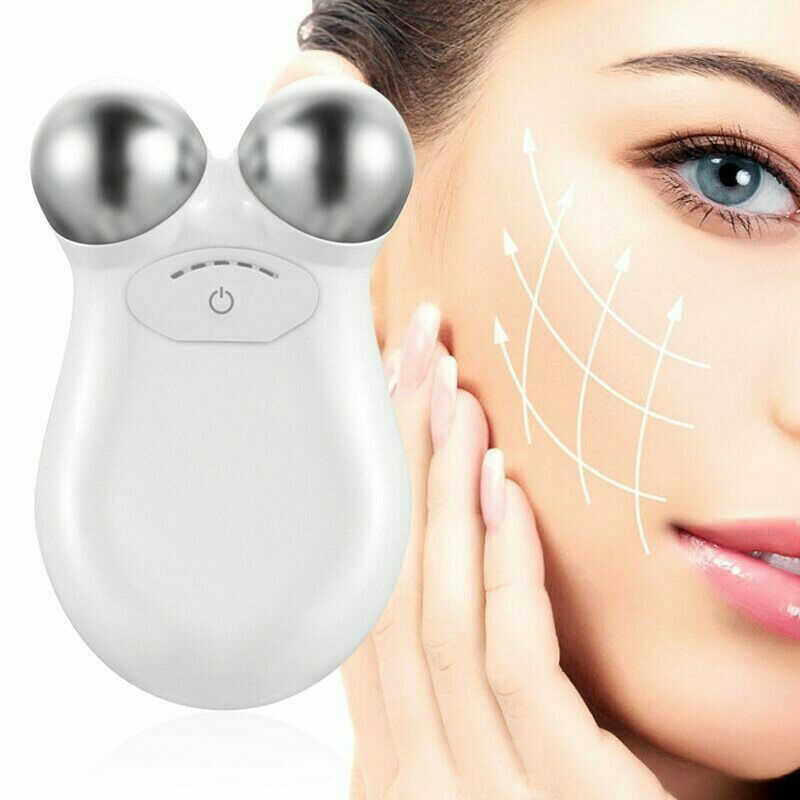 MINI Microcurrent Face Lift ผิวกระชับฟื้นฟูสปา V Lifting Face Facial Roller เครื่องมือ