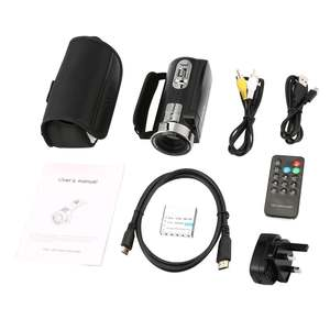 Camera with Microphone 1080P Camcorder Remote-Control Zoom Digital Night-Vision Handy