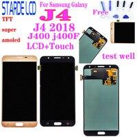 Super amoled para samsung galaxy j4 2018 j400 j400f SM-J400M/ds display lcd j400f/ds substituição da tela de toque