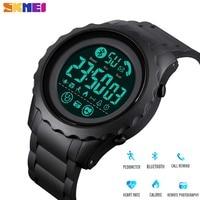 SKMEI Digitale Smart Vigilanza degli uomini di Sport di Frequenza Cardiaca Pedometro Calorie Fitness Orologio Bluetooth Impermeabile Orologio Da Polso montre homme