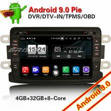 7783 Autoradio Android 9.0 สำหรับ Renault Dacia Duster Logan Sandero Dokker 8 Core DAB + WIFI วิทยุรถสเตอริโอมัลติมีเดียผู้เล่น
