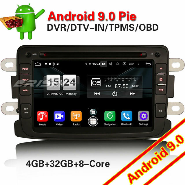 7783 Autoradio Android 9.0 Voor Renault Dacia Duster Logan Sandero Dokker 8 Core Dab + Wifi Radio Auto Stereo Multimedia speler