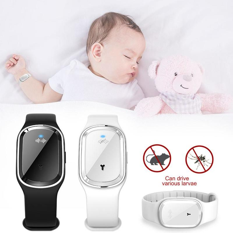 New Electronic Anit Mosquito Repellent Bracelet Waterproof Watch Anti Mosquito Repellent Wristband Pregnant Kids Mosquito Killer