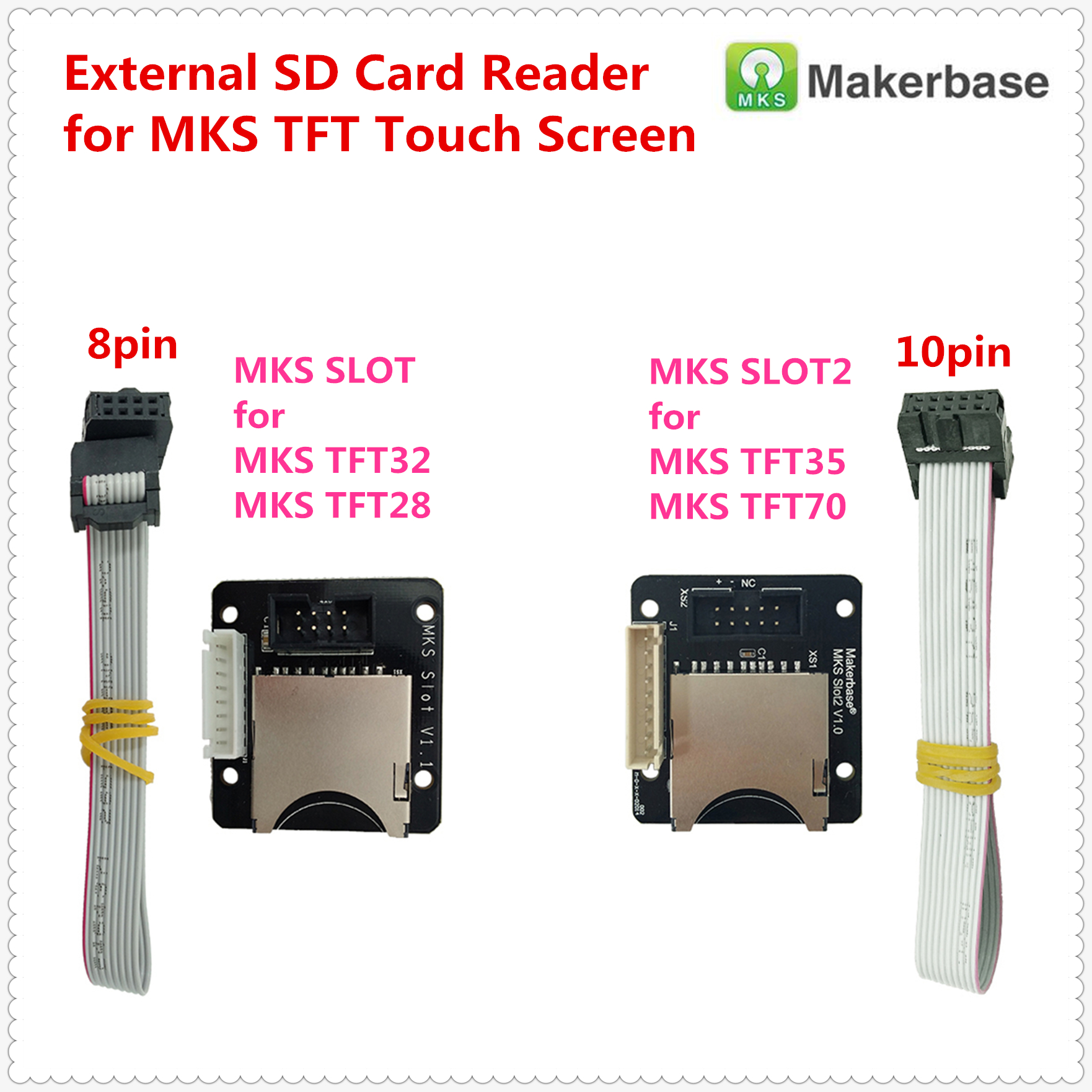 MKS SLOT / Slot2 Breakout Adapter External SD Card Reader Module Extra Sd Slot Expander Socket For MKS TFT Touch Screen Display