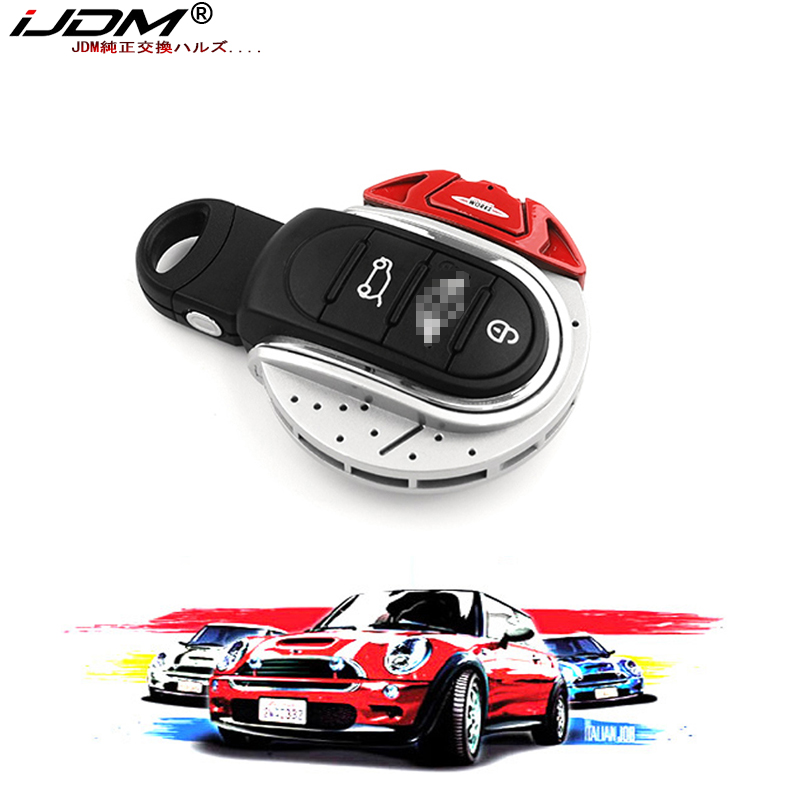 iJDM JCW Car Key Cover For mini cooper key cover keycase key chain For mini cooper F55 F56 F57 F54 F60 jcw Plastic Material ABS