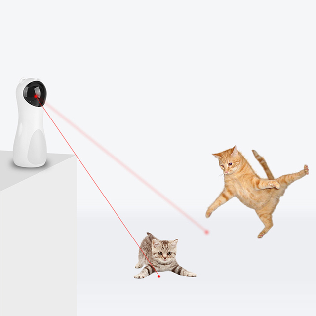 Cat Interactive Toy Automatic Cat Laser Pointer for Cats LED Laser Funny Toy USB/Battery Charging Pet Training Exercise Chaser 2