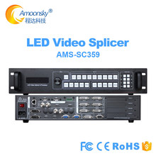 Stage event outdoor led screen display three window splicer SC359 6k video processor support 6 sending card