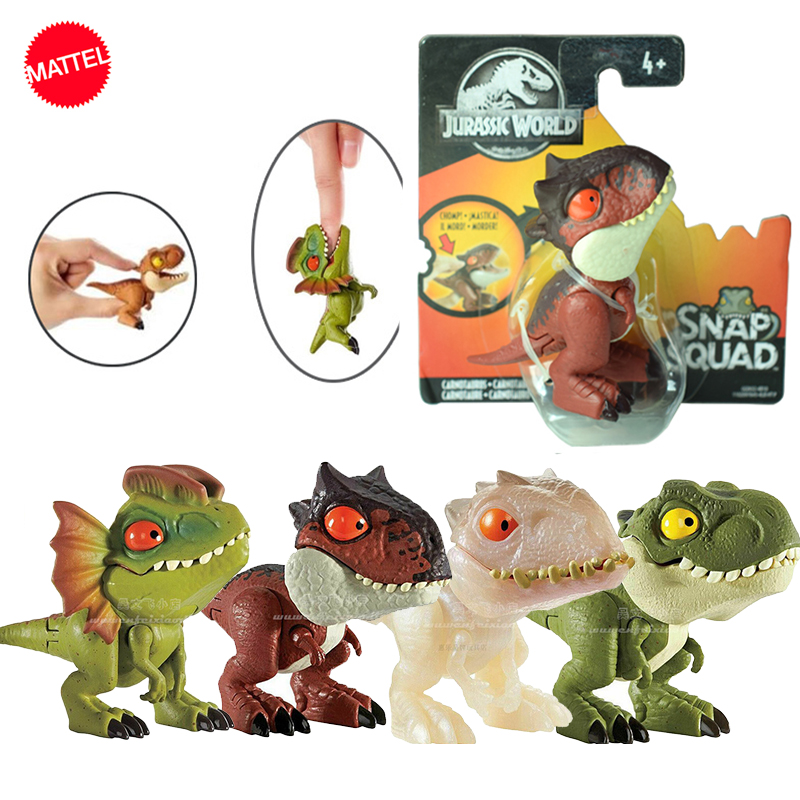 Original Jurassic World Minifingers Dinosaur Action Figure Movable Joint Simulation Model Toy For Children Halloween Figma Gift