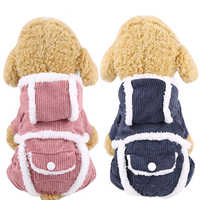 Зимнее пальто на собаку, для питомца, одежда из хлопка, куртка для собак комбинезон для животных теплая дутая куртка Щенок Кот Костюмы для ма...