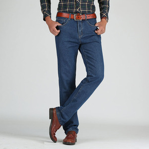 Image 2 - 2019 Men Cotton Straight Classic Jeans Spring Autumn Male Denim Pants Overalls Designer Men Jeans High Quality Size 28 46