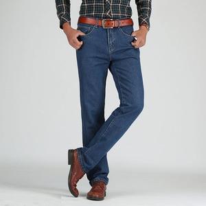 Image 2 - 2019 גברים כותנה ישר קלאסי ג ינס אביב סתיו זכר ג ינס מכנסיים סרבל מעצב גברים ג ינס באיכות גבוהה גודל 28 46