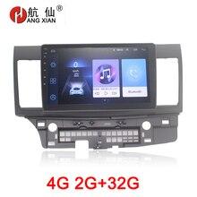 HANG XIAN 2din car radio stereo for MITSUBISHI Lancer 2014 car dvd player gps navigation car accessory with 2G+32G 4G internet