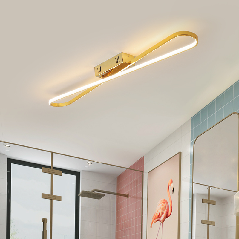 NEO Gleam Surface mounted Modern led ceiling lights for corridor foyer bedroom dining room Gold/Chrome plated led ceiling lamp