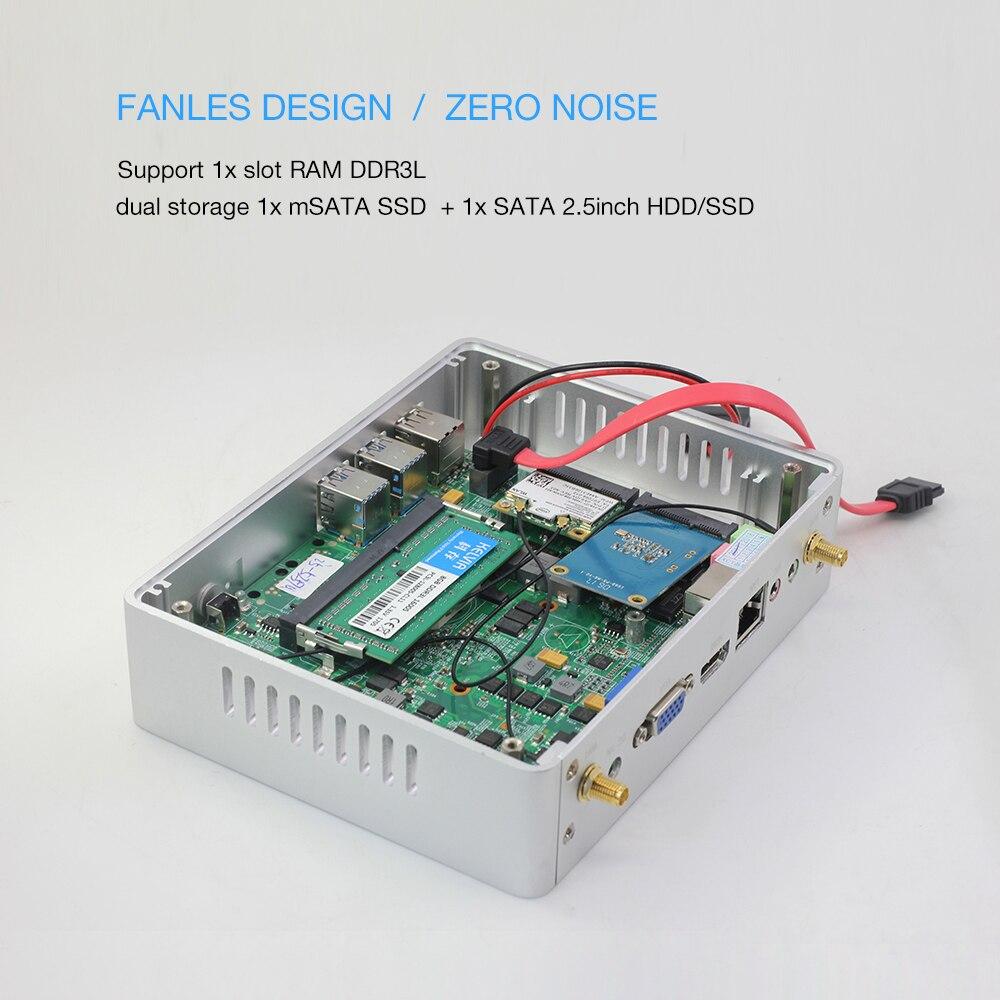 HTPC Computer Pc I3 Mini Pc I5 7200u 7100U Intel-Core Fanless DDR3L I7 4500u Cheap Windows-10