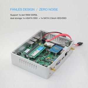 Image 3 - Tanie Intel Core i5 7200U 4210Y i3 7100U i7 5500U bez wentylatora Mini PC z systemem Windows 10 komputer PC DDR3L WiFi HDMI VGA HD Graphics 5500